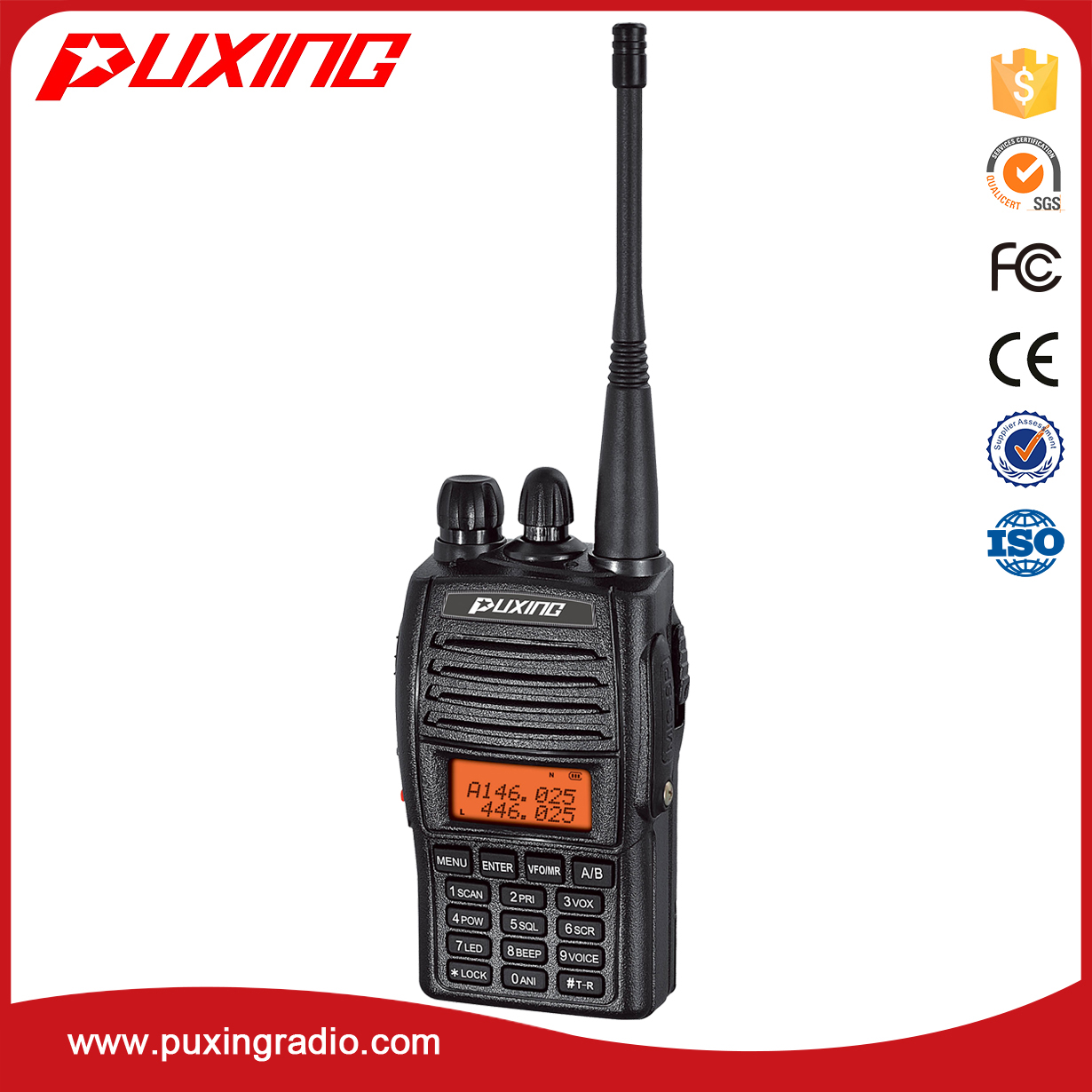 PX-UV973 dual band radio